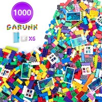 GARUNK Building Bricks 1000 Pieces Set Classic Blocks in 11 Colors with Windows and Doors Compatible All Major Brands for Ages 3 4 5 6 7 8 9 10 Year Old Boys & Girls