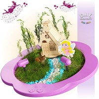Light-up Fairy Garden Kit for Kids - Craft & Grow Your Own Indoor Gardening Gift Girls Boys Includes Everything Planting a DIY Magical Enchanted Gardens Fun STEM Crafts Arts Toy Kits