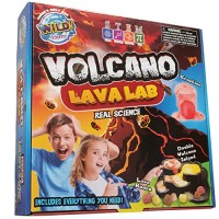 WILD Science Volcano Lava Lab - Kits for Kids STEM Erupting Experiment