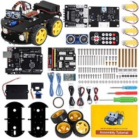 ELEGOO UNO R3 Project Smart Robot Car Kit V 30 Plus with UNO R3 Line Tracking Module Ultrasonic Sensor IR Remote Control etc Intelligent and Educational Toy Car Robotic Kit for Arduino Learner