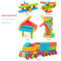 Euone Building Blocks 150pcs Bristle Shape 3D Tiles Construction Playboards Toys Toddlers Kids Gifts