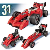 Bloco Toys 3 in 1 Race Car STEM Toy Formula Go Kart & Dragster DIY Building Construction Set 200 Pieces