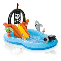 Intex 57168EP Kid Friendly Outside Inflatable Water Pirate Fun Play Toy Center for Kids