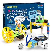Giggleway Electric Motor Robotic Science Kits DIY STEM Toys for kids Building Experiment Boys and Girls-Doodling Balance Car Reptile Robot 3 kits