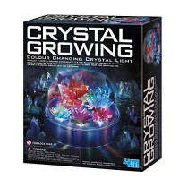 4M Crystal Growing Color Changing LED Light Kids Science Kit - Easy DIY STEM Toys Lab Experiment Specimens A Great Educational Gift for & Teens Boys Girls