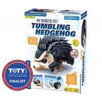 Thames & Kosmos My Robotic Pet - Tumbling Hedgehog Build Your Own Sound Activated Rolling Scurrying STEM Experiment Kit Toy of The Year Award Finalist