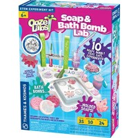 Thames & Kosmos Ooze Labs: Soap & Bath Bomb Lab Science Experiment Kit & Lab Setup 10 Experiments in Cosmetology & Biology of Skin Care | A Parents' Choice Recommended Award Winner