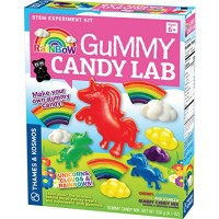 Thames & Kosmos Rainbow Gummy Candy Lab - Unicorns Clouds Rainbows Sweet Science STEM Experiment Kit Make Your Own Candies in Cool Shapes Colors