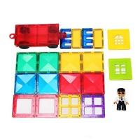 20Pcs Magnetic Building Blocks for Kids Toddlers STEM Educational Construction Magnet Toys Stacking Tiles 3D Kit Set