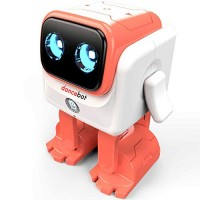 ECHEERS Dance Robot Toys for Kids Boys and Girls Educational Music Dancing Rechargeable Speaker Follow Beats Rhythm 3 Years+ Coral