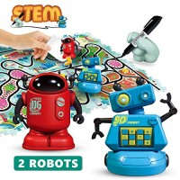 REMOKING STEM Magic Inductive Robot ToysCreative Track Puzzle Race GameLearning and Educational Toys for Boys & Girls 3 Years UpParty Birthday Gifts