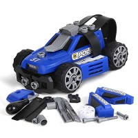 BeebeeRun 5-in-1 DIY Take Apart City Police Car Toys for 3 4 5 6 7 Year Old Boys Girls Emergency Rescuing STEM Learning Building Play Set Kids Children