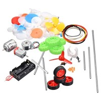 uxcell 82 Pcs Plastic Gear Package Kit DIY Assortment accessories set for Toy Motor Car Robot Various Axle Belt Bushings
