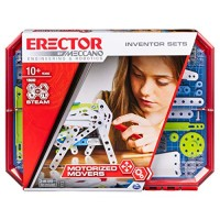 Meccano Erector Set 5 Motorized Movers STEAM Building Kit with Animatronics for Ages 10 & Up
