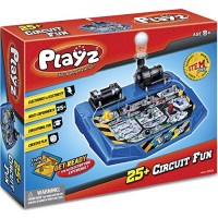 Playz Electrical Circuit Board Engineering Kit for Kids with 25+ STEM Projects Teaching Electricity Voltage Currents Resistance & Magnetic Science Gift Children Age 8 9 10 11 12 13+