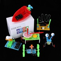 6 Set STEM KitDC Motors Electronic Assembly Robotic Science Kits Mini Electric PlotterBall EmitterReptile Robot BoatBalance CarCircuit Building DIY Experiments Projects for Kids