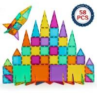 BMAG Magnetic Building Blocks 3D Tiles Set STEM Preschool Magnet Tile Construction Toys Educational Puzzles