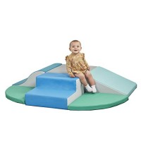 Sliding FDP 11619-NVPB SoftScape Playtime Step and Slide Climber for Infants and Toddlers Colorful Beginner Soft Foam Structure for Indoor Active Play Climbing Crawling