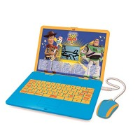 Lexibook Disney Toy Story 4 Woody Buzz Bilingual Educational Laptop Learn and play-120 Activities to Discover Mathematics Music Knowledge Logic Games-French English JC595TSi1 Blue Yellow