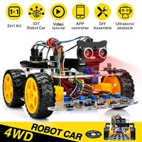 OSOYOO Robot Car Starter Kit for Arduino UNO STEM Remote Controlled App Educational Motorized Robotics Building Programming Learning How to Code IOT Mechanical DIY Coding Kids Teens Adults
