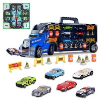 Aokesi Transport Car Carrier Truck Toy - Mini Car and Play Vehicle Set for
