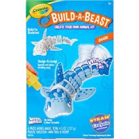 Crayola Build A Beast Shark Model Magic Craft Kit Steam Stem Learning Toys Gift for Kids 5 6 7 8
