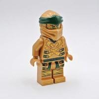IQ Lego Ninjago Legacy Gold Ninja LED Torch Flashlight - 5 inch Tall Figure