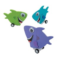 Pullback Shark Craft Kit-12 - Crafts for Kids and Fun Home Activities