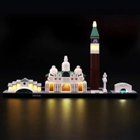 LIGHTAILING Light Set for Architecture Venice Building Blocks Model - Led kit Compatible with Lego 21026 NOT Included The Model
