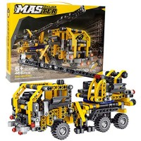 BIRANCO Crane Truck Building Kit - Educational Learning STEM Blocks Toys Gifts for 8 10 12 yr Old Kids Engineering Construction Set Boys & Girls Age 6 7 9 11 13 Years Up