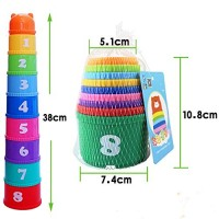SUNMART USA Baby Stack Cups Stacking Toys for Kids Educational Learning Puzzle Stacked Blocks Game
