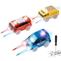 Track Cars Replacement Only Light Up Toy Cars for Magic Tracks and Neo Tracks