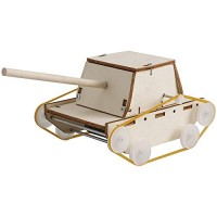 ALIANSHOP STEM Electric Motor Catalyst DIY Tank Toy Mechanical Assembly Gift Toys Kit
