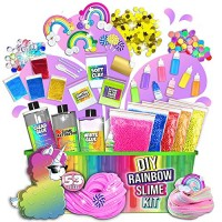 Butter or Cloud or Glitter or Stardust Slime Includes Glue Activator and Magic Add ins All-Inclusive DIY Slime Making Kits with 5 Secrets Laevo Surprise Unicorn Slime Kit for Girls