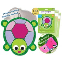 Turtle Sewing Kit for Kids Girls Boys Preschool Kits Projects Animal Craft Art Felt Animals Beginners Bulk 144