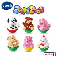 VTech- ZOOMIZOOZ-Set of 6 Farm Animals First Age Toy 80-438905 Multi-Coloured
