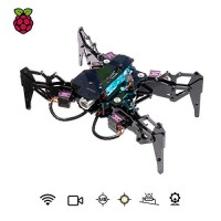 Adeept DarkPaw Bionic Quadruped Spider Robot Kit for Raspberry Pi 3 Model B+ B 2B STEM Crawling OpenCV Self-stabilizing Based on MPU6050 Gyro Sensor with PDF Manual