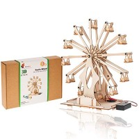 Wooden Ferris Wheel Building DIY Model Kits for Adults Teens and Kids Educational STEM Toys Boys Girls 3D Puzzles Science Mechanical Assembly Projects