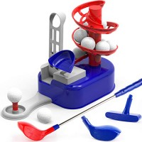 iPlay iLearn Kids Golf Toys Set W/ Left & Right Club Head Indoor Outdoor