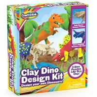 Build Your Own Dinosaur Models w Air Dry Modeling Clay - Boys Arts Crafts Set for Kids 3 x 3D Dino Puzzles with 15 Molding Modelling STEM Educational Birthday Gift