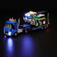 Led Lighting Kit for City Great Vehicles Harvester Transport - Compatible with Lego 60223 Building Blocks Model- Not Include The Set