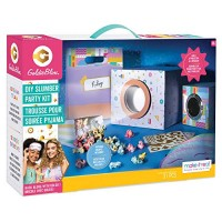 Make It Real GoldieBlox - DIY Slumber Party Movie Night STEM Toy Sleepover Craft Kit to Projector Includes Smartphone Popcorn Cups Sleep Mask