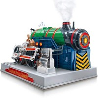 Playz Train Steam Engine Model Kit to Build for Kids with Real STEM Science Kits Adults and Educational Hobby Gift Mini Set Engineering Toy Boys & Girls