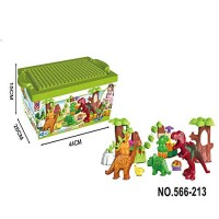 40 Piece Dinosaur Paradise Building Blocks Set STEM Learning Mighty Brick Compatible with All Major Brands Toys