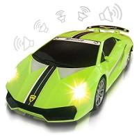 ArtCreativity Green Racer Car with Lights and Sounds Light-Up Push n Go Racer Car