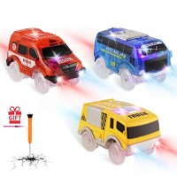 Track Cars Replacement Toy Cars for Magic Tracks Glow in the Dark Racing Car