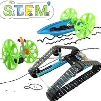 UNGLINGA STEM Toys Electric Motor Robotic Science Kit for Kids Intro to Engineering Building Project Boys Girls Ages 10 11 12 13 14 Year Old Gift DIY Assemble Balance Car Tracked Tank Boat