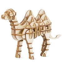 RoWood Animal Model Wood Craft Kits STEM Educational Toy Gifts for Kids Teens Boys and Girls Aged 8 Up - Camel 61 Pieces