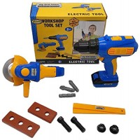 Kids Tool Set with Electronic Cordless Drill 28 Pcs Pretend Play Real Constructi