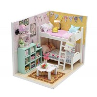 Kisoy Romantic and Cute Dollhouse Miniature DIY House Kit Creative Room Perfect DIY Gift